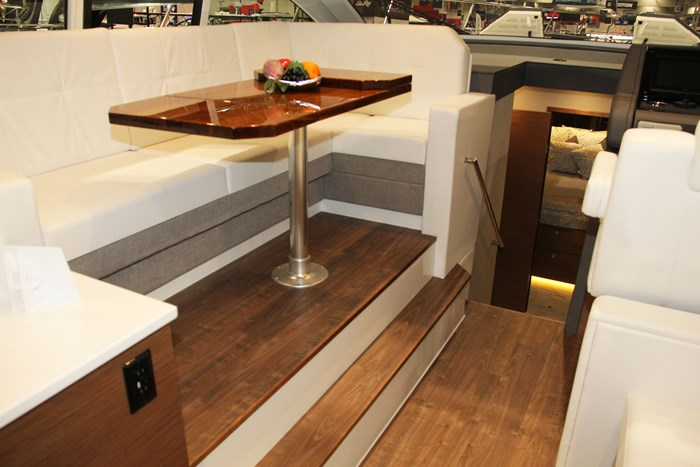 cruisers yachts 46 cantius galley table