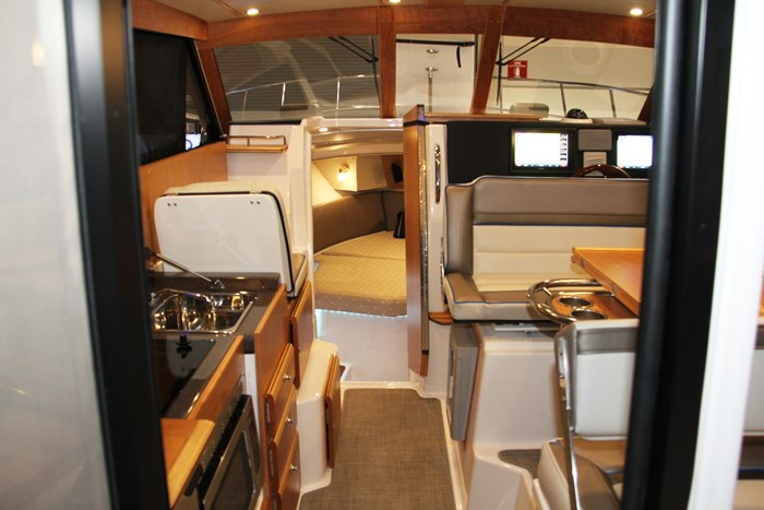 cutwater c-302 coupe galley