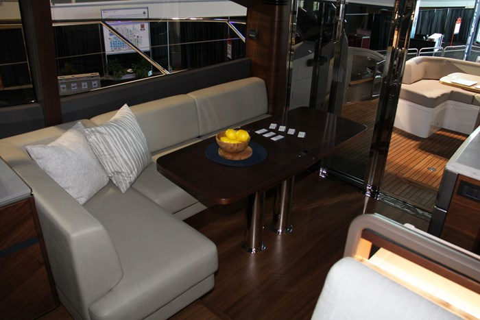 princess v60 yacht balley table