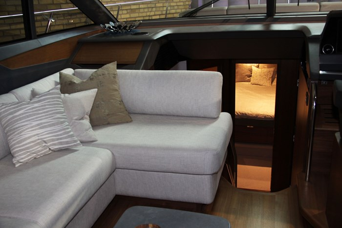 princess v60 yacht couch
