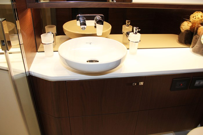 princess v60 yacht sink