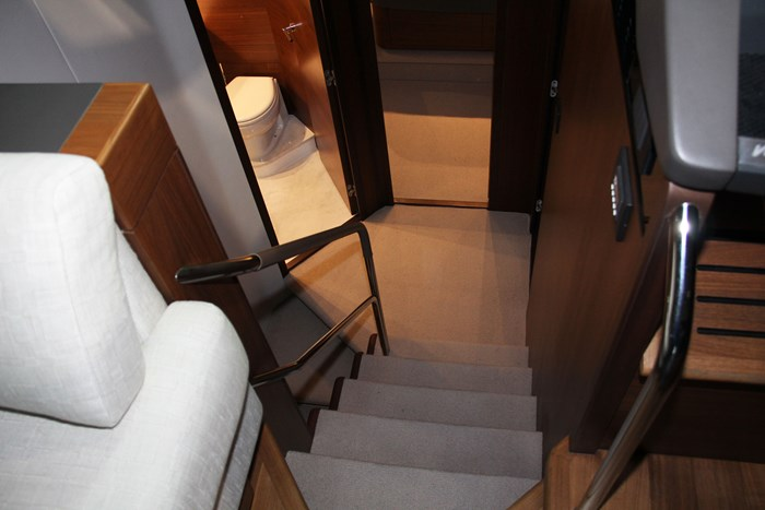 princess v60 yacht stairs