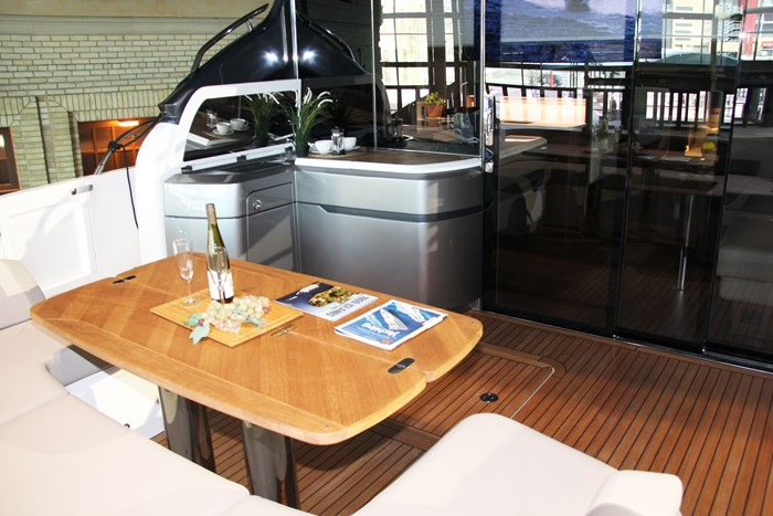 princess v60 yacht table