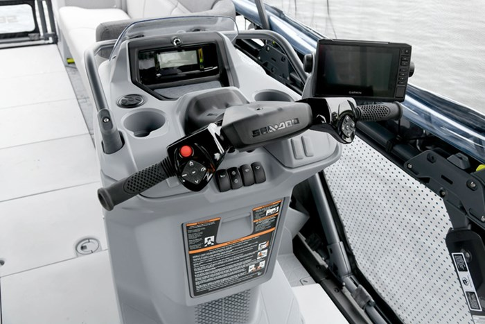 Handlebar steering is immediately familiar and comfortable