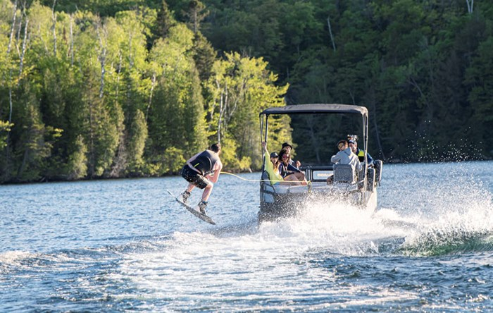 The Sprot is a capable watersports boat