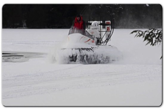 airrider hovercraft lake ice