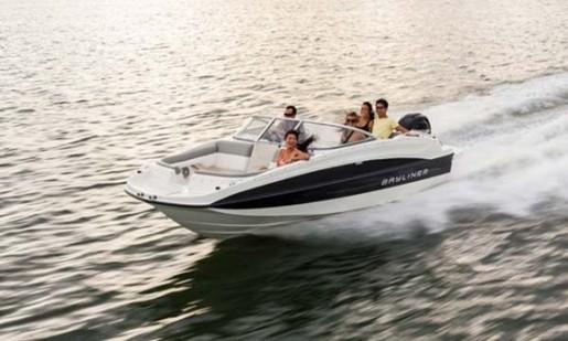 bayliner 190 deck boat running