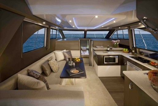 carver yacht c34 seating