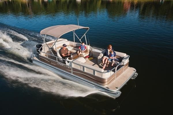 2010 Crestliner 2185 Escape Pontoon Boat Ponton Critique du