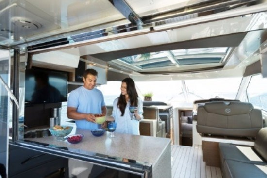 45 cantius cruisers kitchen