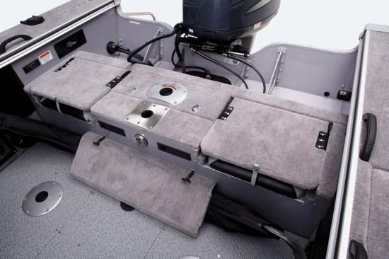 g3 angler v185 fs flip up stern seats down