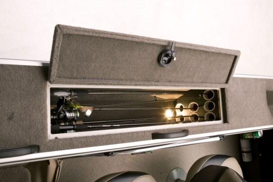 g3 angler v185 fs lockable gunnel rod storage