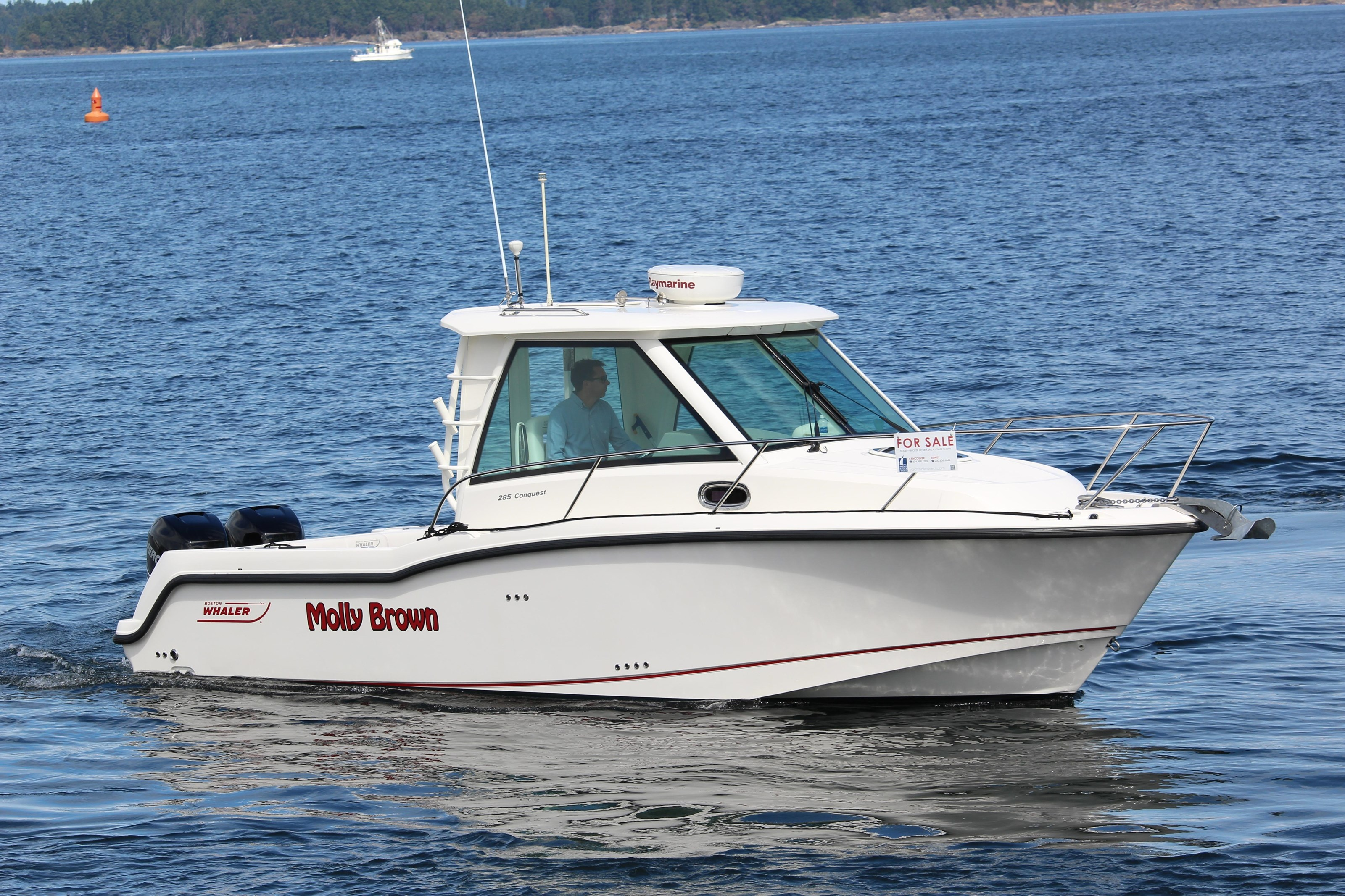 2014 boston whaler 285 conquest boat for sale 2014 motor for Motor boat rental boston