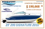 Chaparral *29 SIGNATURE 290 2016