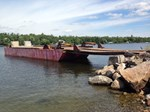 60' x 16' x 6' Steel Deck Barge with Ramp 1990