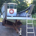 2016 33' x 10' Steel Landing Craft w/motor