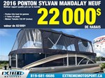 2017 Sylvan MANDALAY 24 25 PIEDS 3 TUBE - PONTON