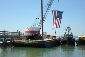 Custom Built 90' x 30' Steel Deck Barge 1962