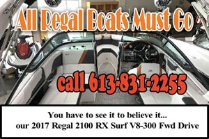 Regal 2100 RX Surf V8300 FWD Drive 2017