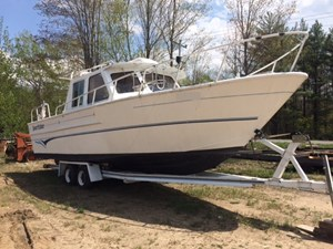30' de Cloet Custom Aluminum Fishing Trawler w/Trailer 1990