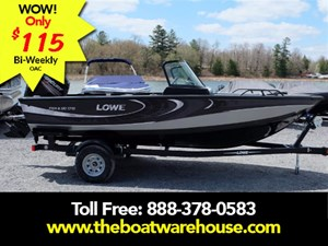 Lowe Boats FS 1710 Merc 150HP Trailer Fish Finder Stereo 2017