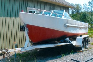 2000 17' Workboat (Needs Mechanical) With trailer