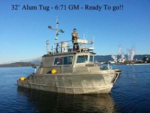 Aluminum Tug Shallow Draft Tug 1981