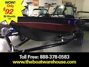 Lowe Boats FS 1610 Merc 90HP Trailer Fish Finder Stereo 2018