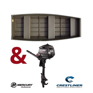 Crestliner 1040 CR JON Boat + 2.5HP Package 2018
