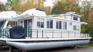 Pontoon Egan 35 Houseboat 1980
