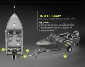 Legend 16 XTE-Sport package w/Merc 40 ELPT 4-Stroke & trl 2019