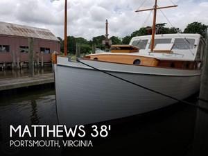 1941 Matthews 38 Cabin Cruiser
