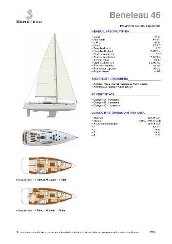 2010 Beneteau America 46 Photo 12 sur 12