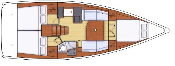 2021 Beneteau Oceanis 38.1 Photo 4 sur 32