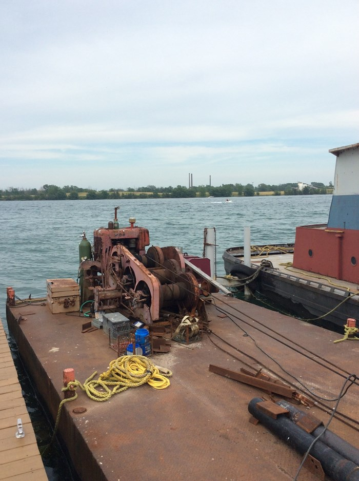 Pile Driving Barge B2308 1979 Used Boat for Sale in Grand Island, New York  - BoatDealers ca