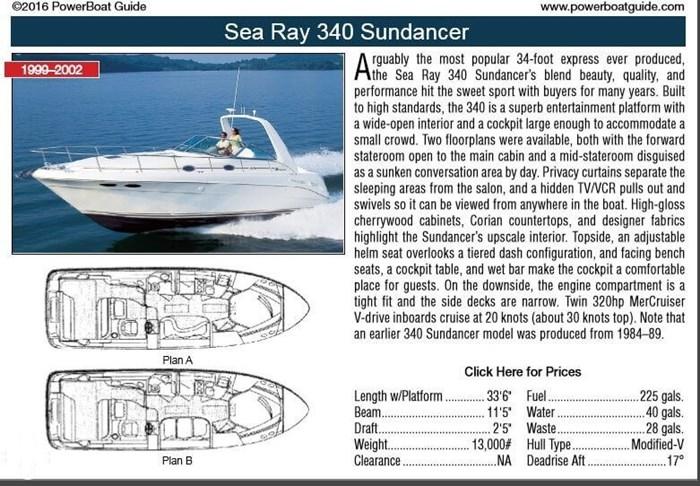 2000 Sea Ray 340 Sundancer Photo 11 of 20
