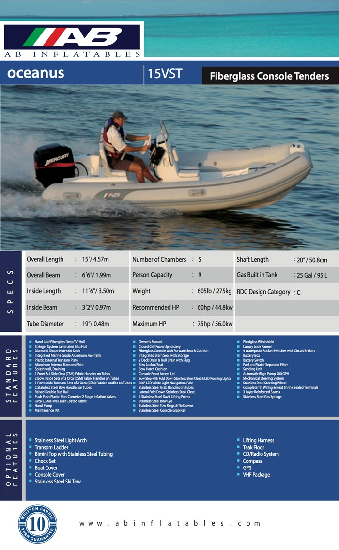 2021 AB Inflatables Oceanus 15 VST Photo 2 of 6