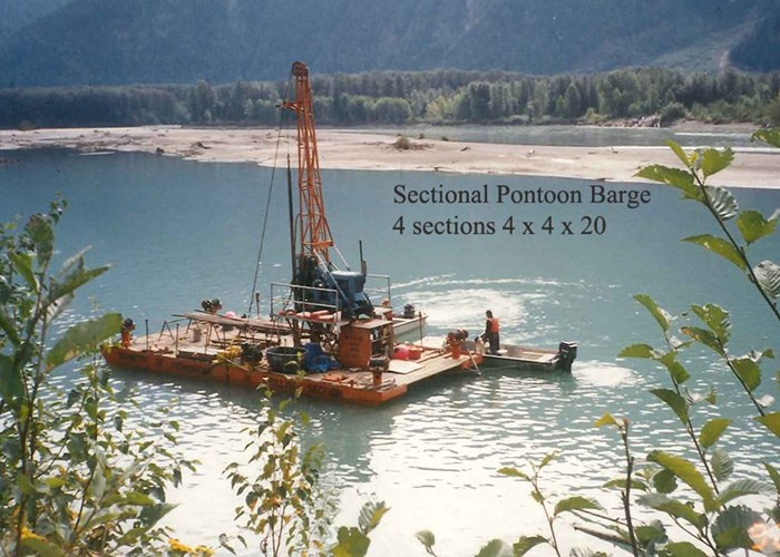 1996 4 Section-Pontoon Sectional Barge Motivated Seller - Make on OFFER Photo 1 of 8