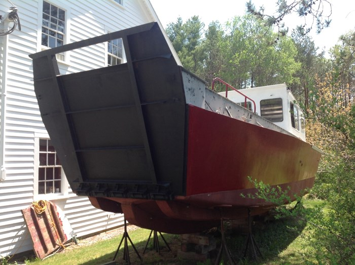 Ex USCG Fiberglass Landing Craft 1965 Used Boat for Sale in Warren, Maine -  BoatDealers ca