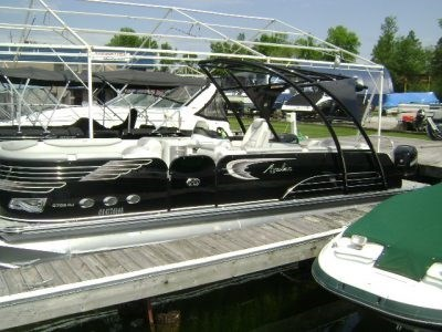Tritoon For Sale >> Avalon Ambassador 27 Rj Tritoon 2015 Used Boat For Sale In Washago Ontario Boatdealers Ca