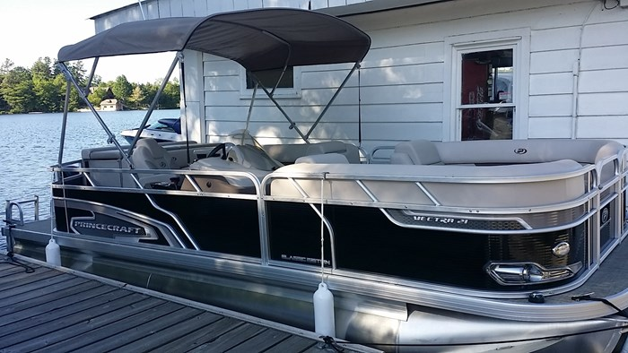 Tritoon For Sale >> Princecraft Vectra 21 Tritoon 2019 New Boat For Sale In Bala Ontario Boatdealers Ca