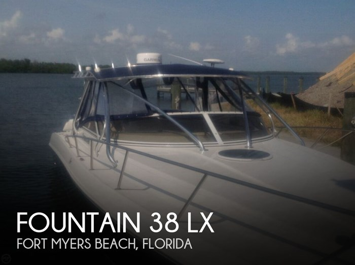 Fountain 38 Lx 2009 Used Boat For Sale In Fort Myers Beach Florida Boatdealers Ca