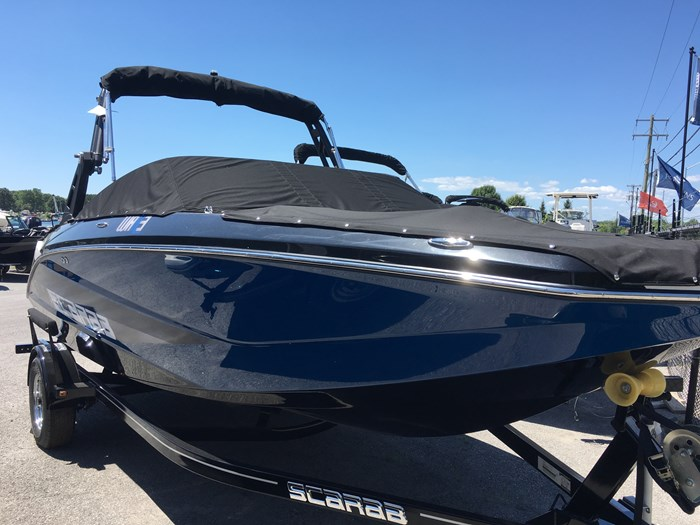 2019 Scarab 215 Identity Jet Twin Rotax 200HP WB Tower Trailer Photo 4 sur 8