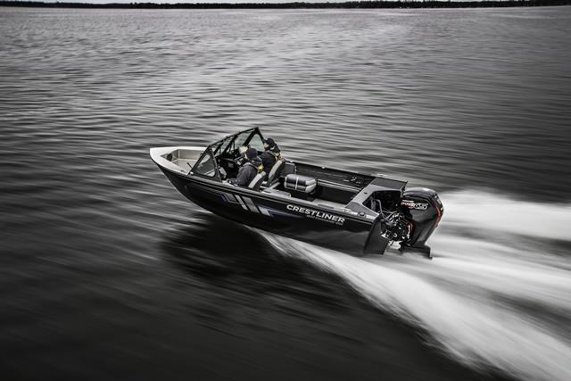2019 Crestliner 1850 Commmander Elite Silver-Met / Black Photo 3 of 22