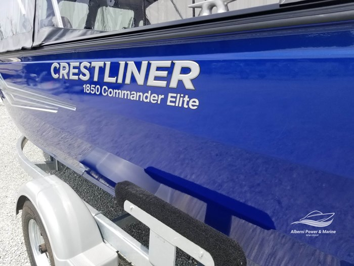 2019 Crestliner 1850 Commmander Elite Silver-Met / Black Photo 7 of 52