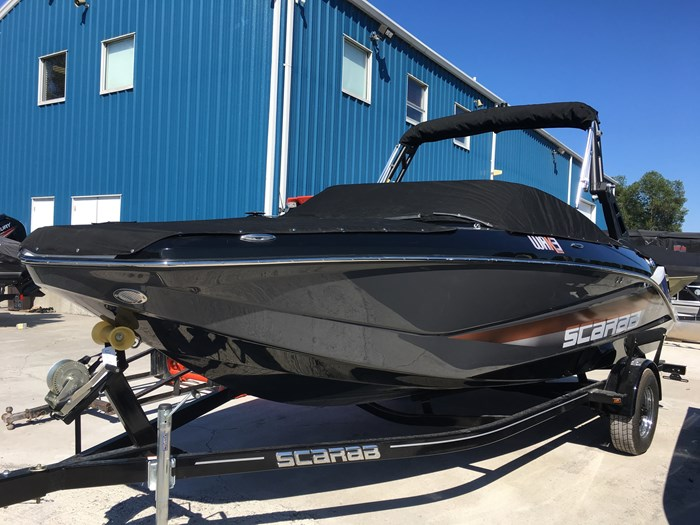 2019 Scarab 215 Identity Jet Twin Rotax 200HP WB Tower Trailer Photo 4 sur 21