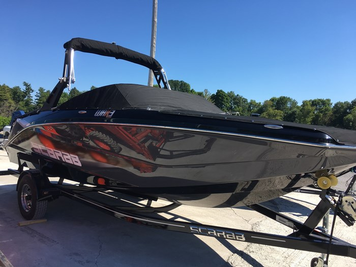 2019 Scarab 215 Identity Jet Twin Rotax 200HP WB Tower Trailer Photo 5 sur 21