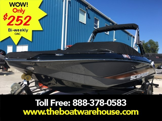 2019 Scarab 215 Identity Jet Twin Rotax 200HP WB Tower Trailer Photo 1 sur 21