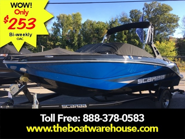 2019 Scarab 215 Identity Jet Twin Rotax 200HP WB Tower Trailer Photo 1 sur 20