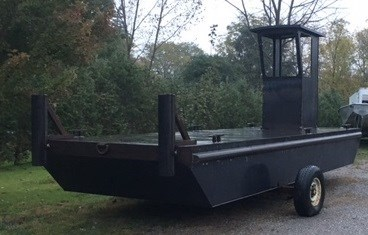 "2018 23'6 x 8' x 30"" Steel Work Barge w/ Wheelhouse Photo 2 sur 3"